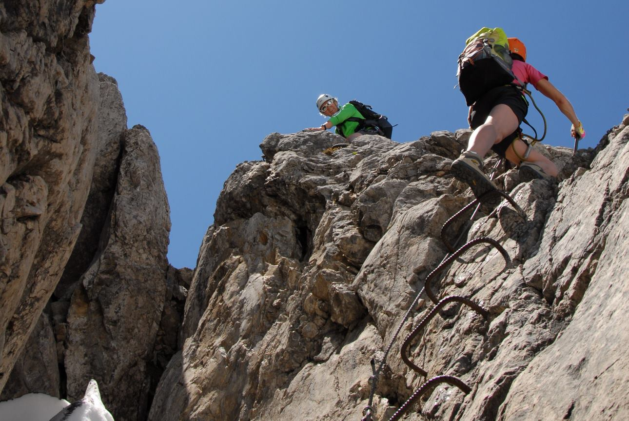Klettersteig Ausrüstung : Klettersteig mindelheimer hÜtte
